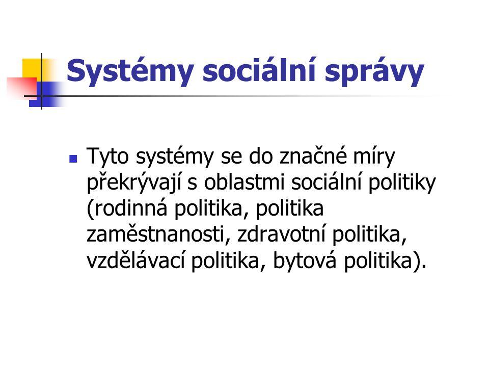 Systémy sociální správy