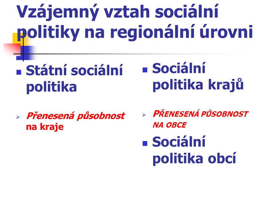 Vzájemný vztah sociální politiky na regionální úrovni