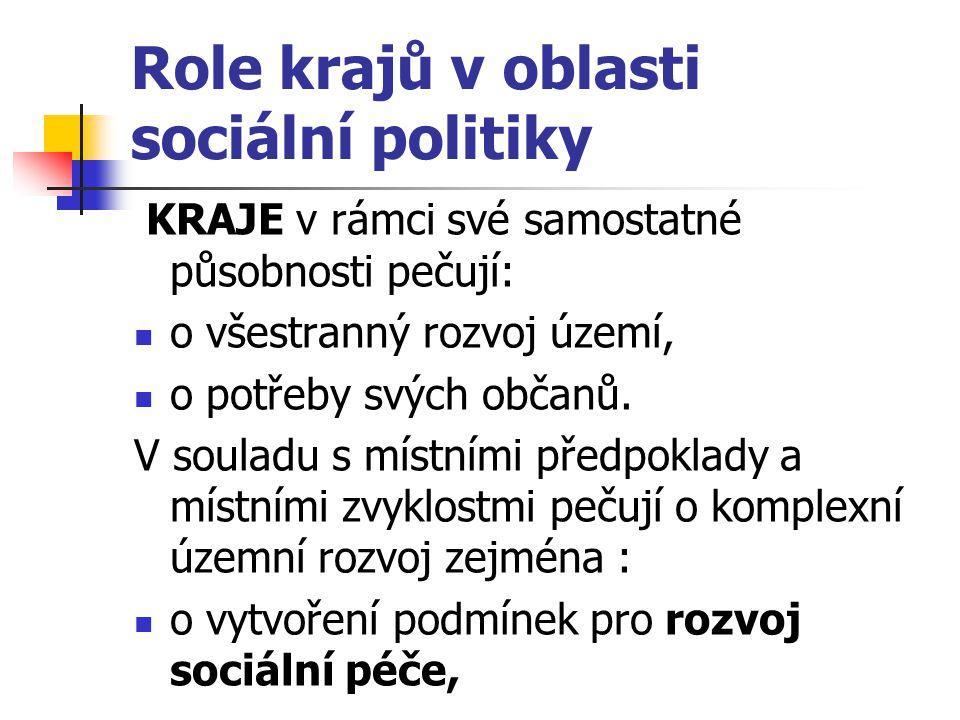 Role krajů v oblasti sociální politiky