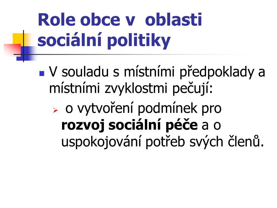 Role obce v oblasti sociální politiky