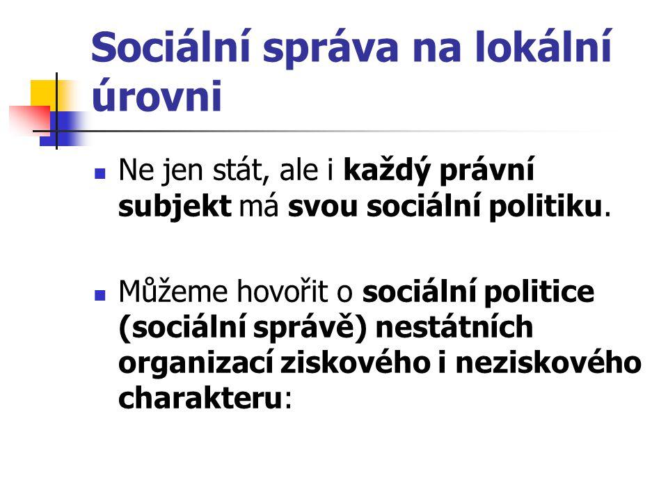 Sociální správa na lokální úrovni