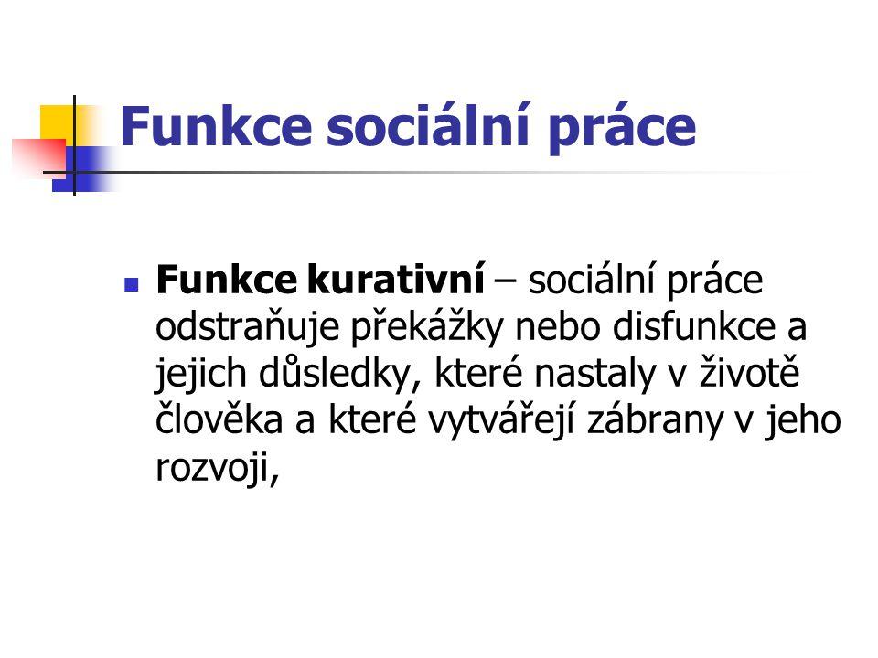 Funkce sociální práce