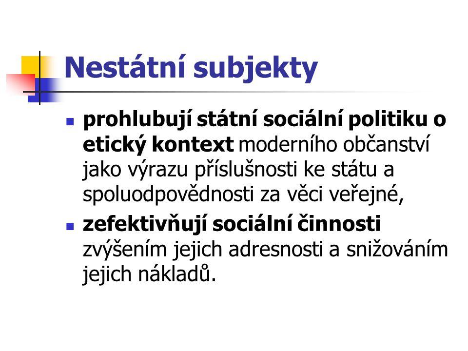 Nestátní subjekty