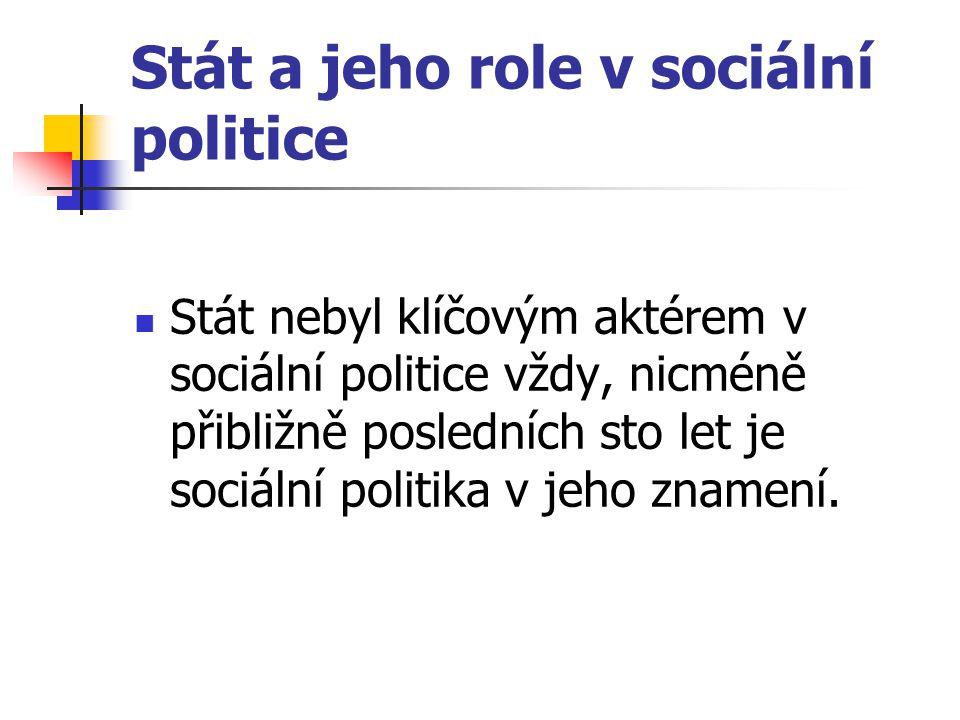 Stát a jeho role v sociální politice