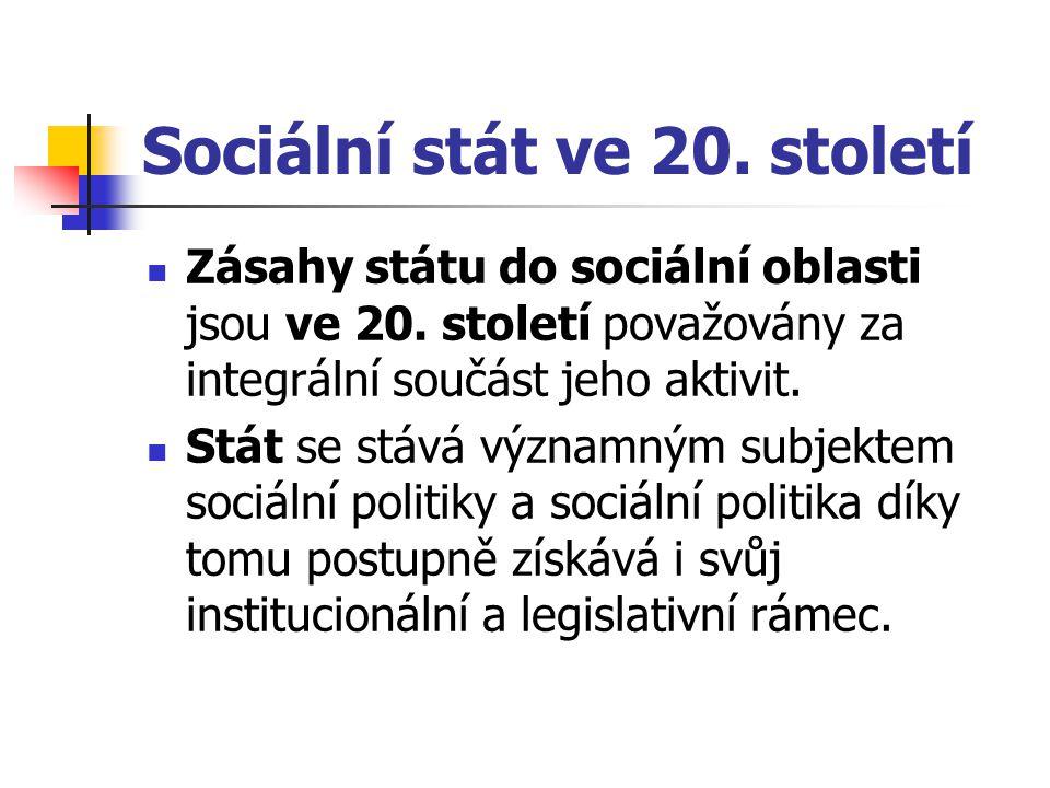 Sociální stát ve 20. století
