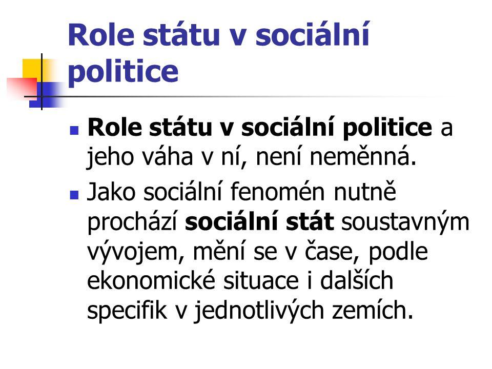 Role státu v sociální politice