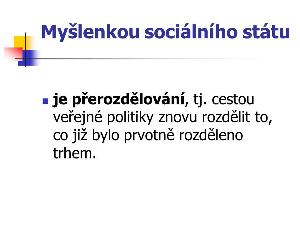 Myšlenkou sociálního státu