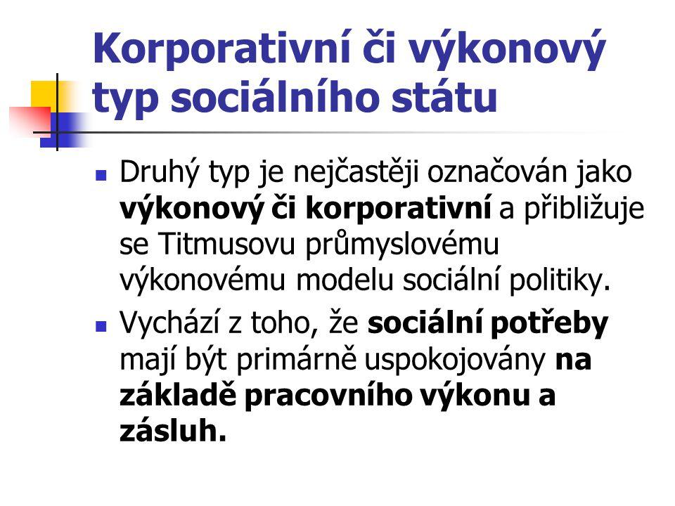 Korporativní či výkonový typ sociálního státu