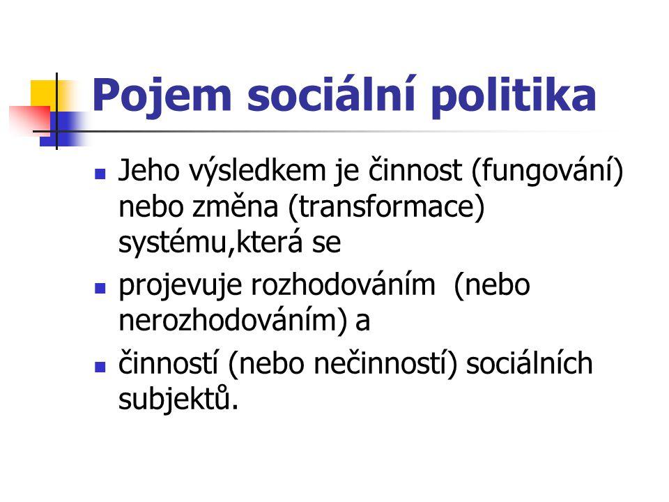 Pojem sociální politika