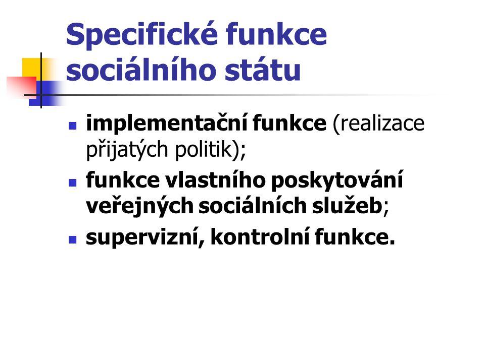 Specifické funkce sociálního státu