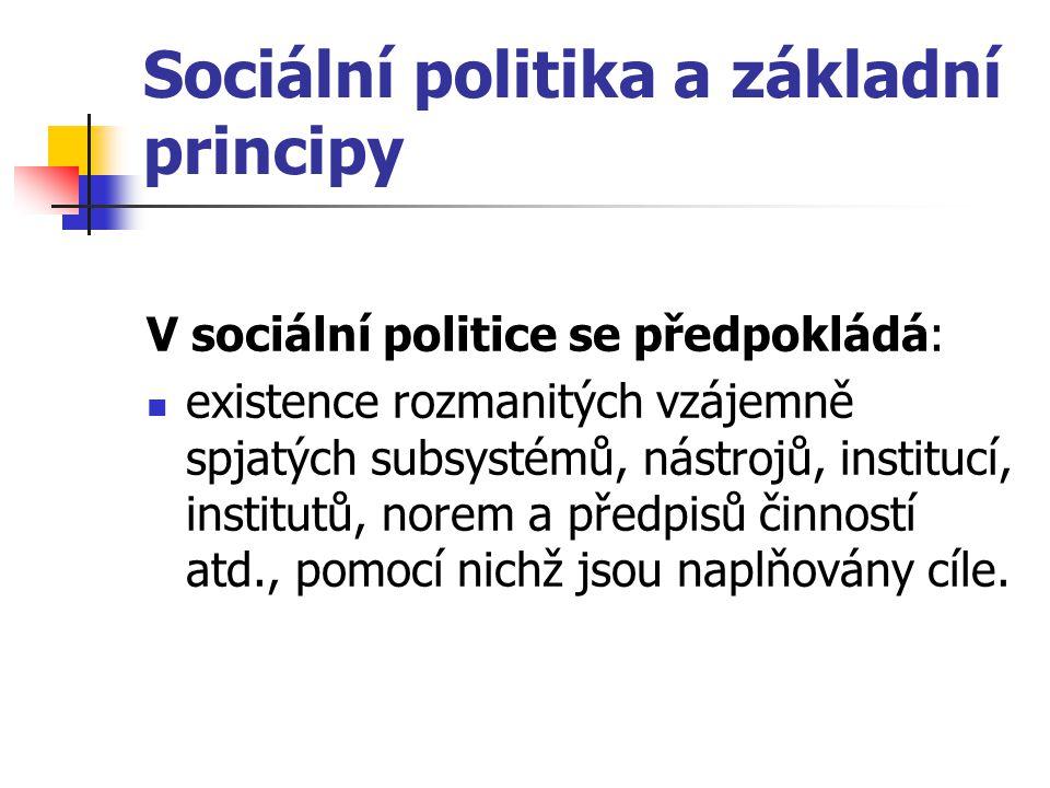 Sociální politika a základní principy