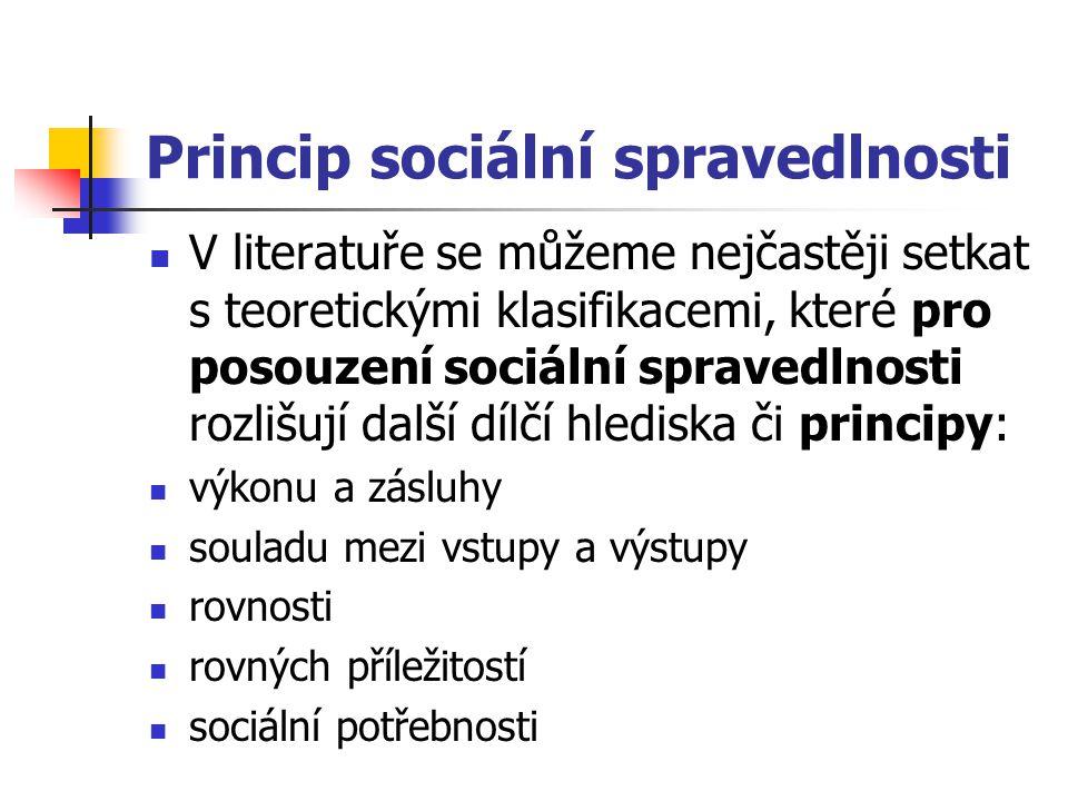 Princip sociální spravedlnosti
