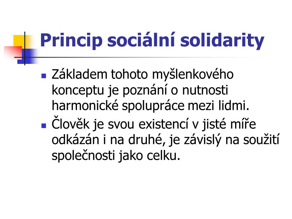 Princip sociální solidarity
