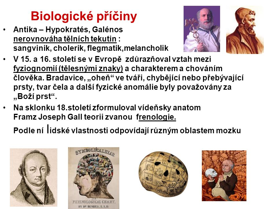 Biologické příčiny