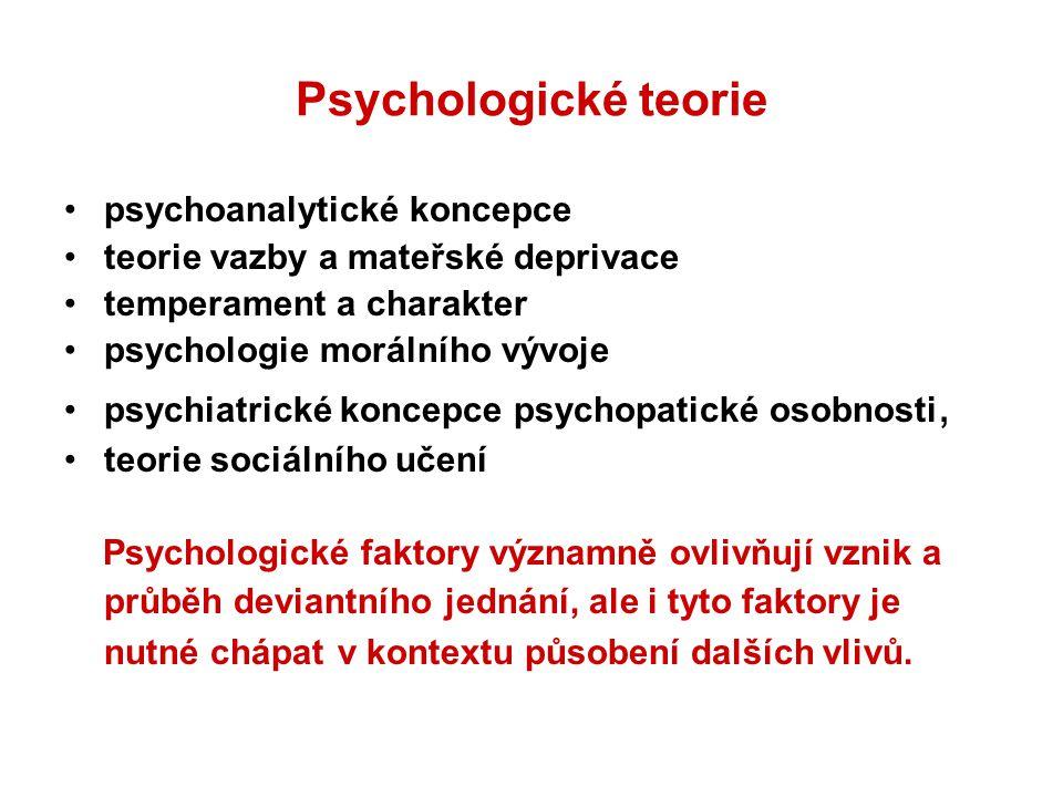 Psychologické teorie psychoanalytické koncepce