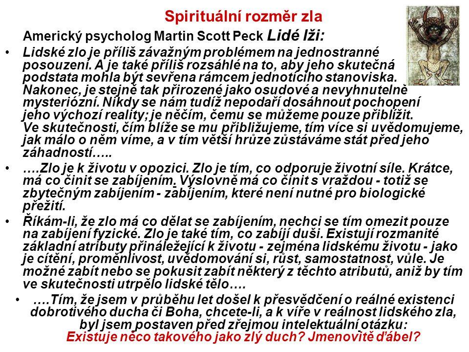 Spirituální rozměr zla