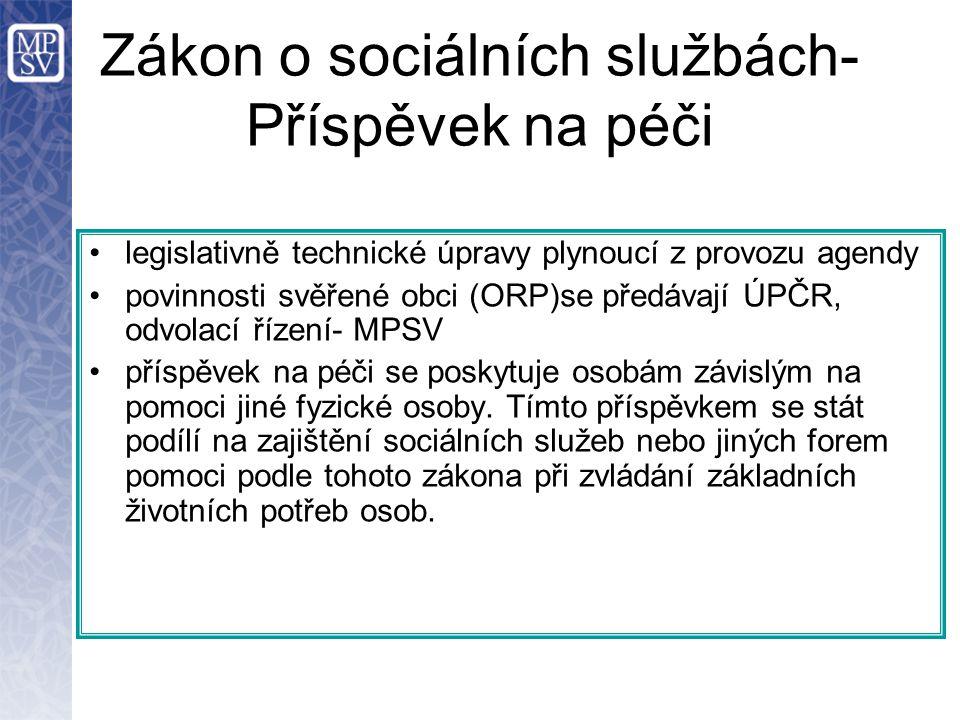Zákon o sociálních službách- Příspěvek na péči