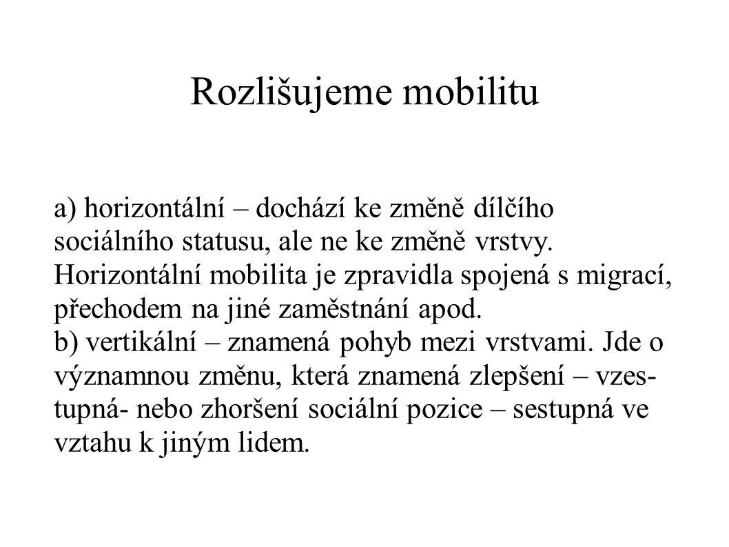 Rozlišujeme mobilitu