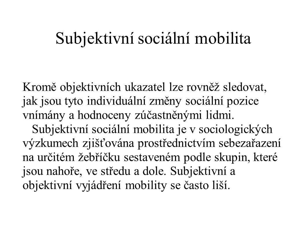 Subjektivní sociální mobilita