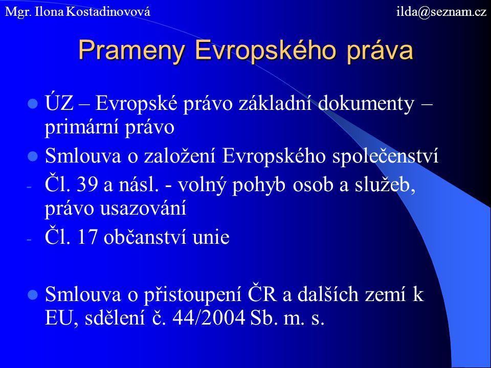 Prameny Evropského práva