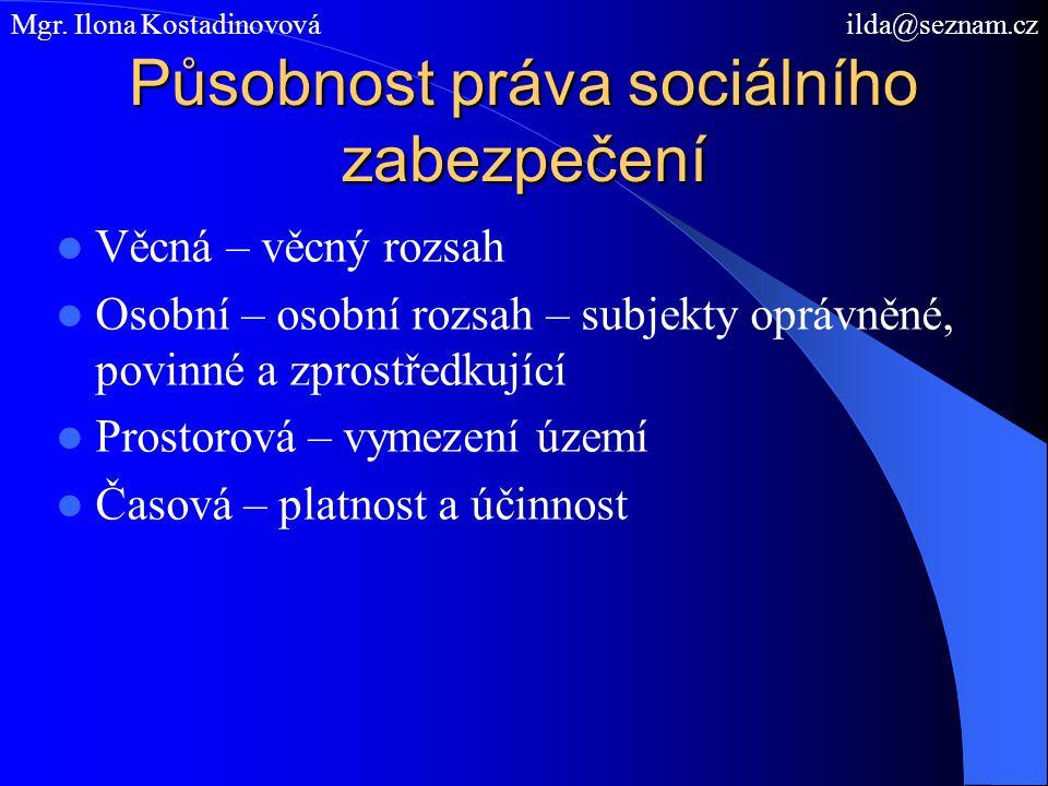 Působnost práva sociálního zabezpečení