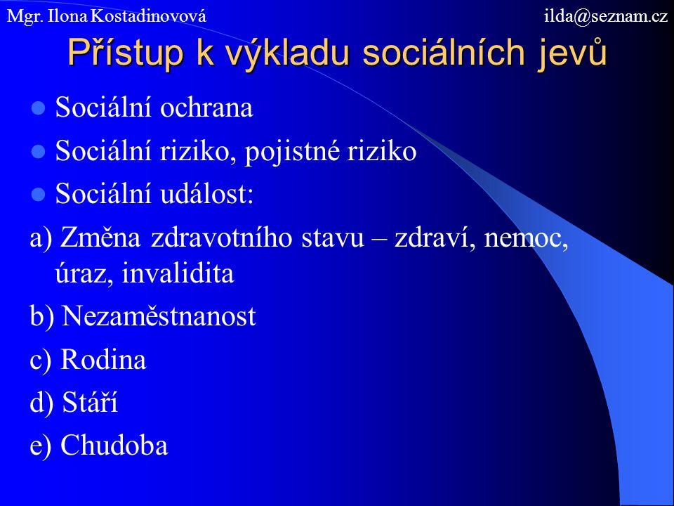 Přístup k výkladu sociálních jevů