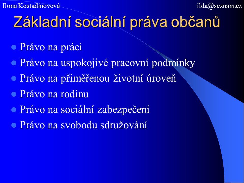 Základní sociální práva občanů