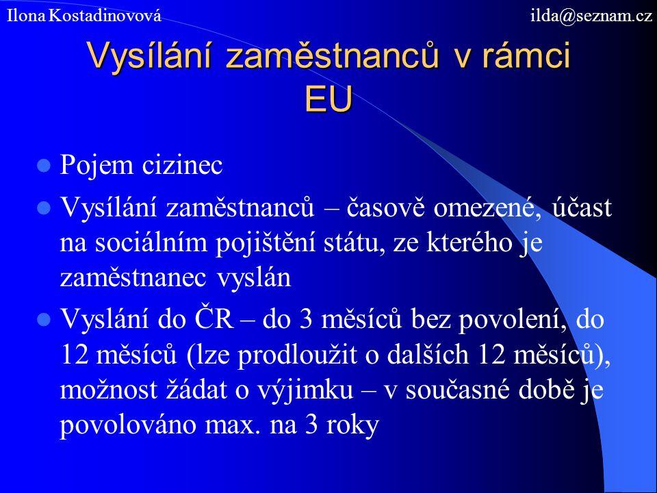 Vysílání zaměstnanců v rámci EU