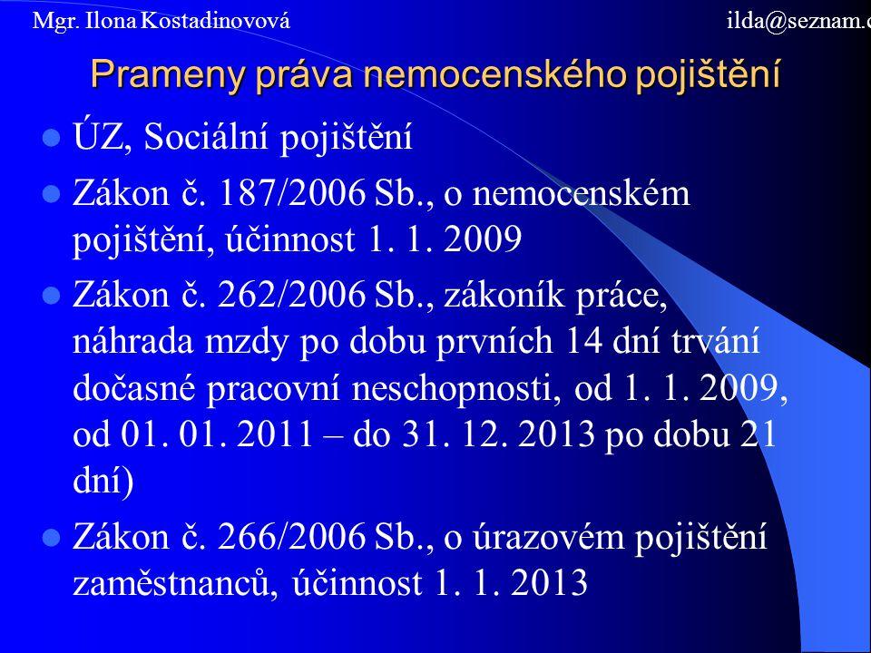 Prameny práva nemocenského pojištění
