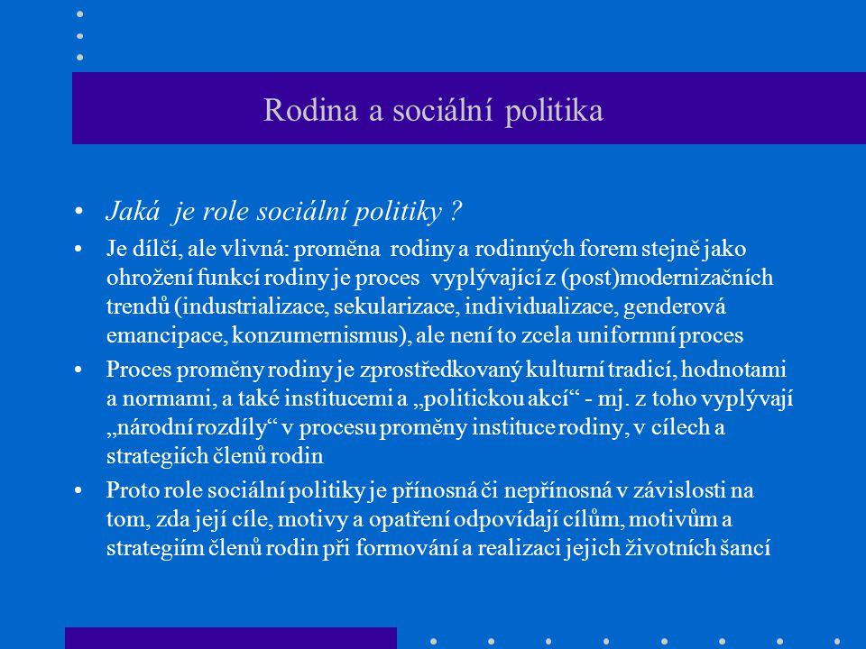 Rodina a sociální politika