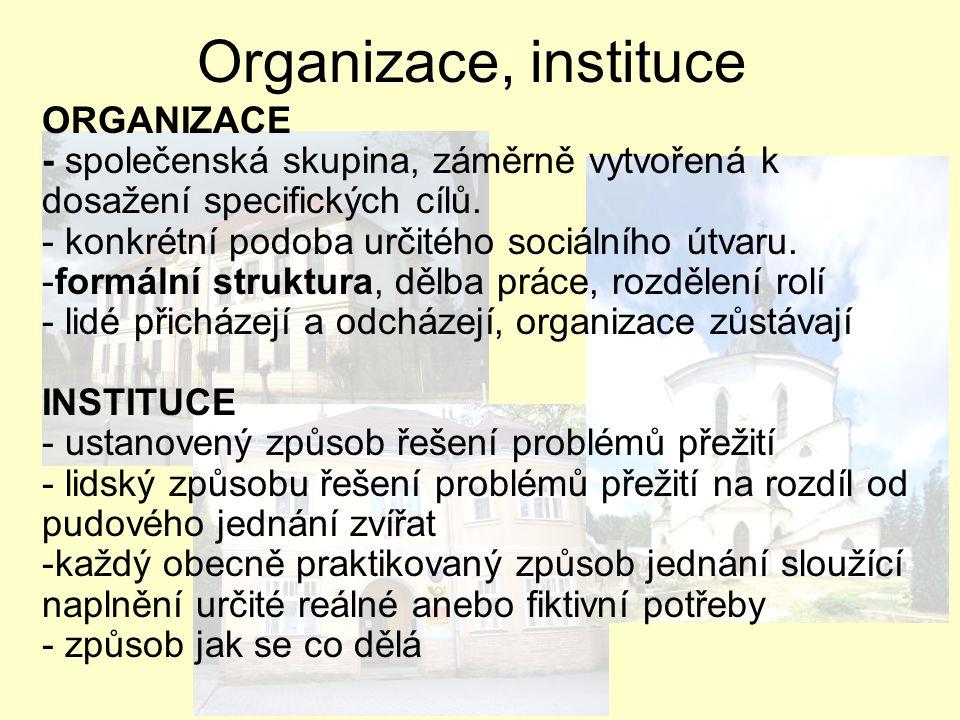 Organizace, instituce ORGANIZACE
