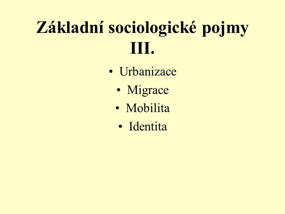 Základní sociologické pojmy III.