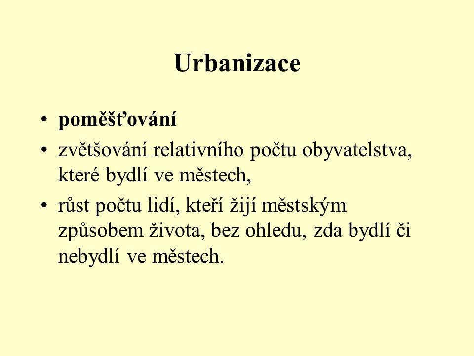 Urbanizace poměšťování