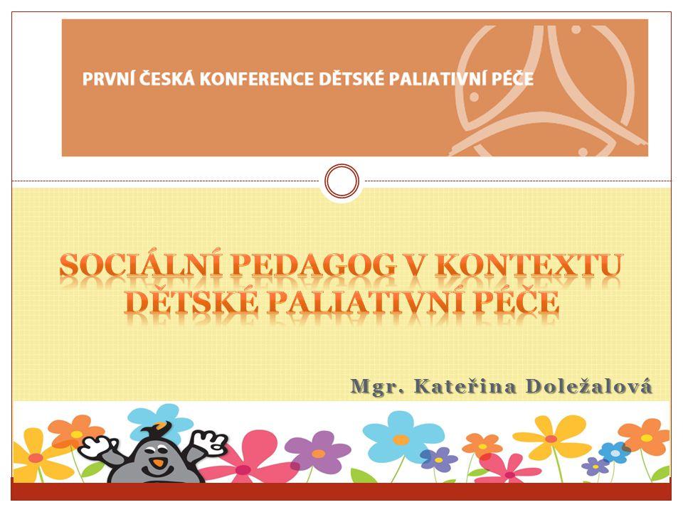 Sociální pedagog v kontextu dětské paliativní péče