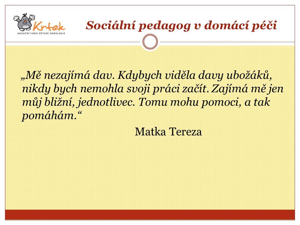 Sociální pedagog v domácí péči