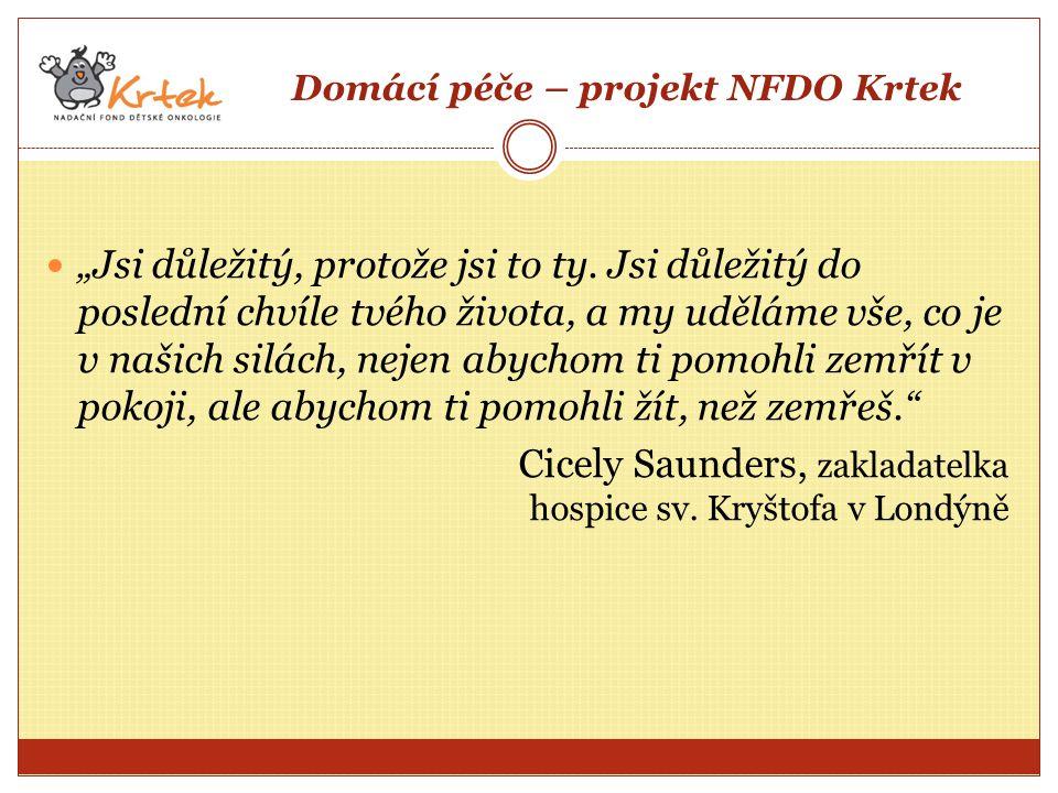 Domácí péče – projekt NFDO Krtek
