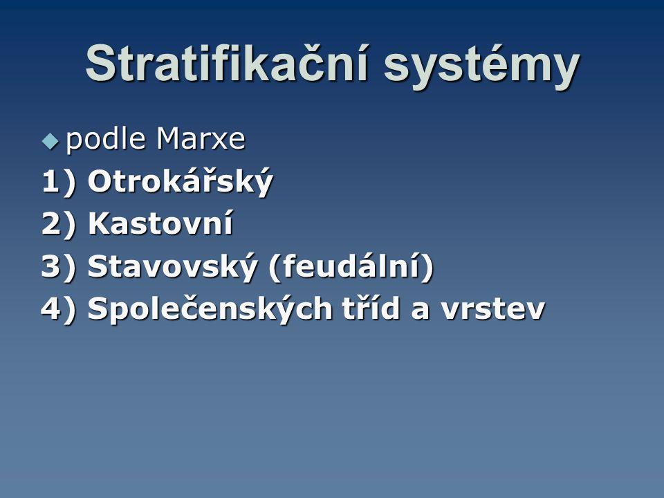 Stratifikační systémy