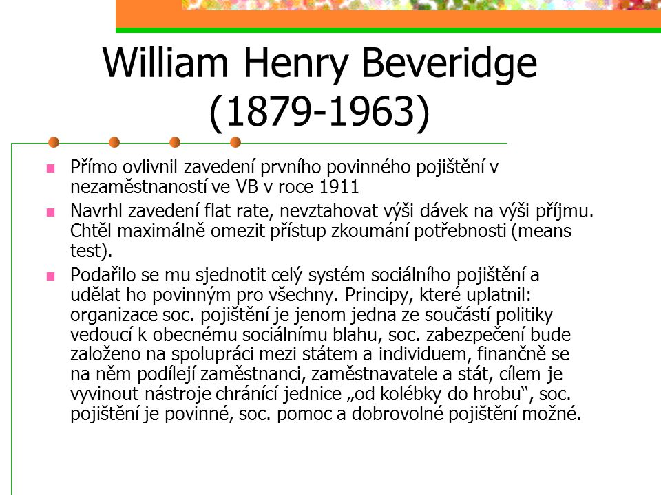 William Henry Beveridge (1879-1963)
