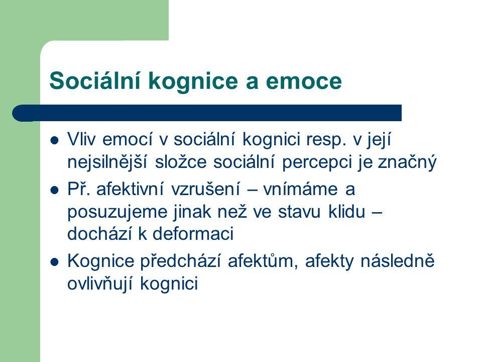Sociální kognice a emoce