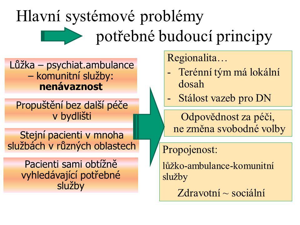 Hlavní systémové problémy potřebné budoucí principy