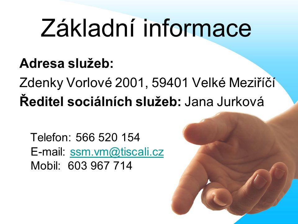 Základní informace Adresa služeb: