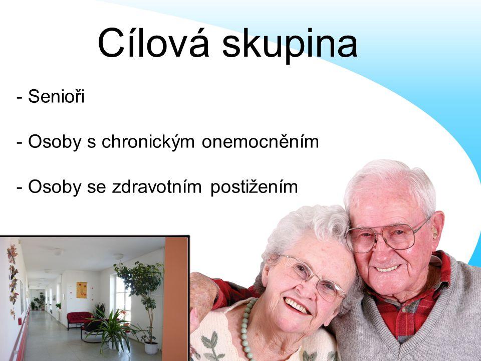 Cílová skupina - Senioři - Osoby s chronickým onemocněním
