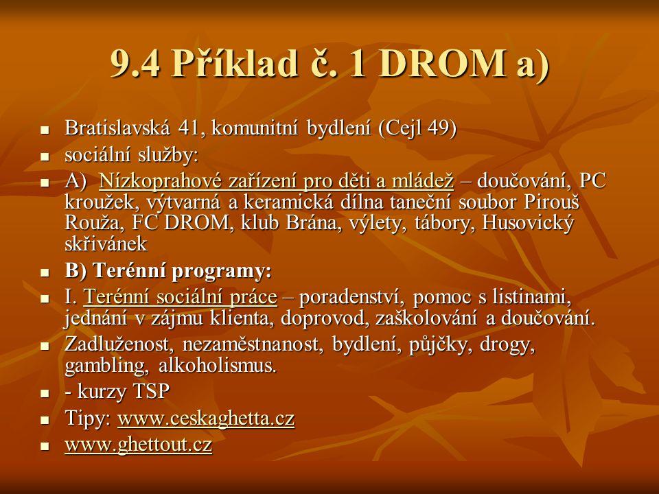 9.4 Příklad č. 1 DROM a) Bratislavská 41, komunitní bydlení (Cejl 49)
