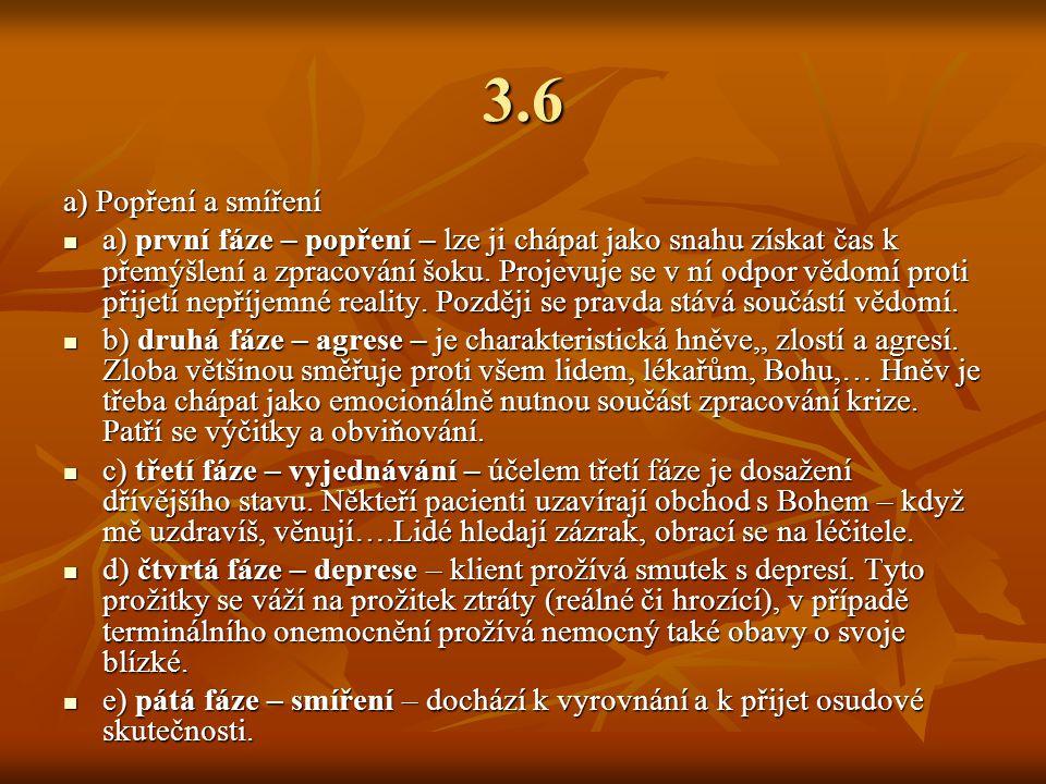 3.6 a) Popření a smíření.