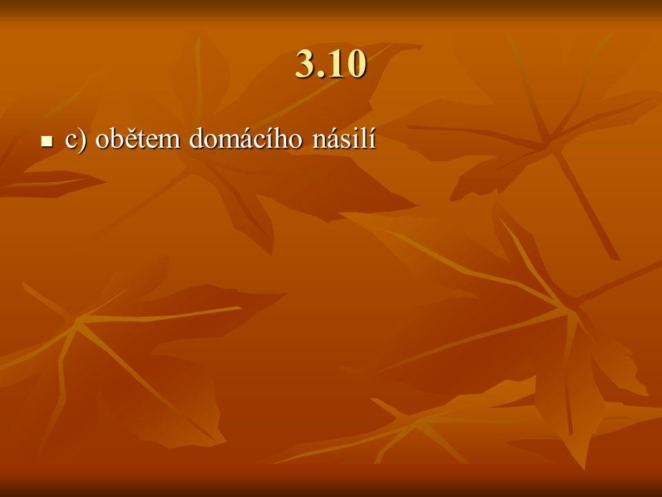 3.10 c) obětem domácího násilí