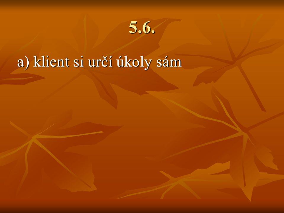 5.6. a) klient si určí úkoly sám