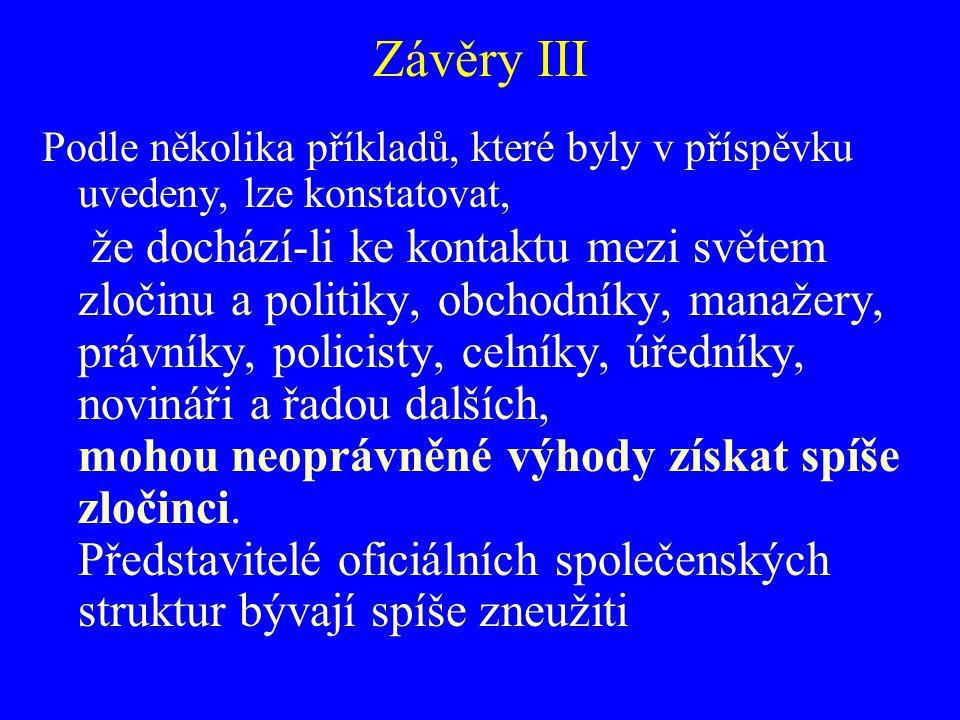 Závěry III