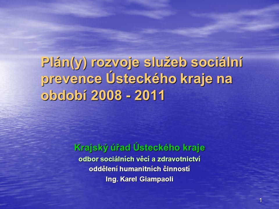 Plán(y) rozvoje služeb sociální prevence Ústeckého kraje na období 2008 - 2011