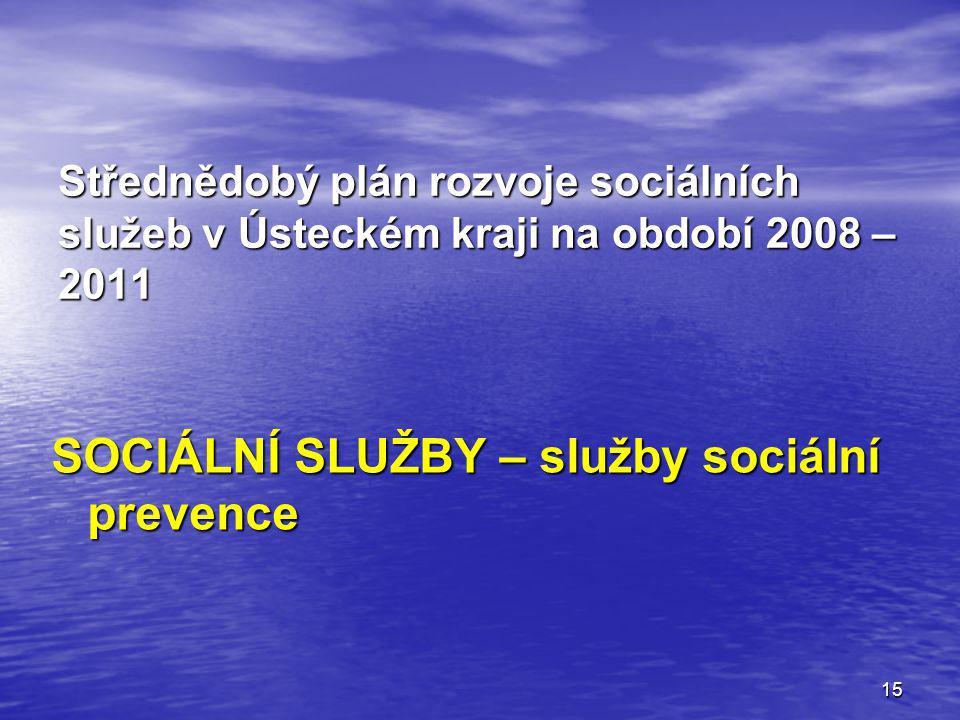 SOCIÁLNÍ SLUŽBY – služby sociální prevence