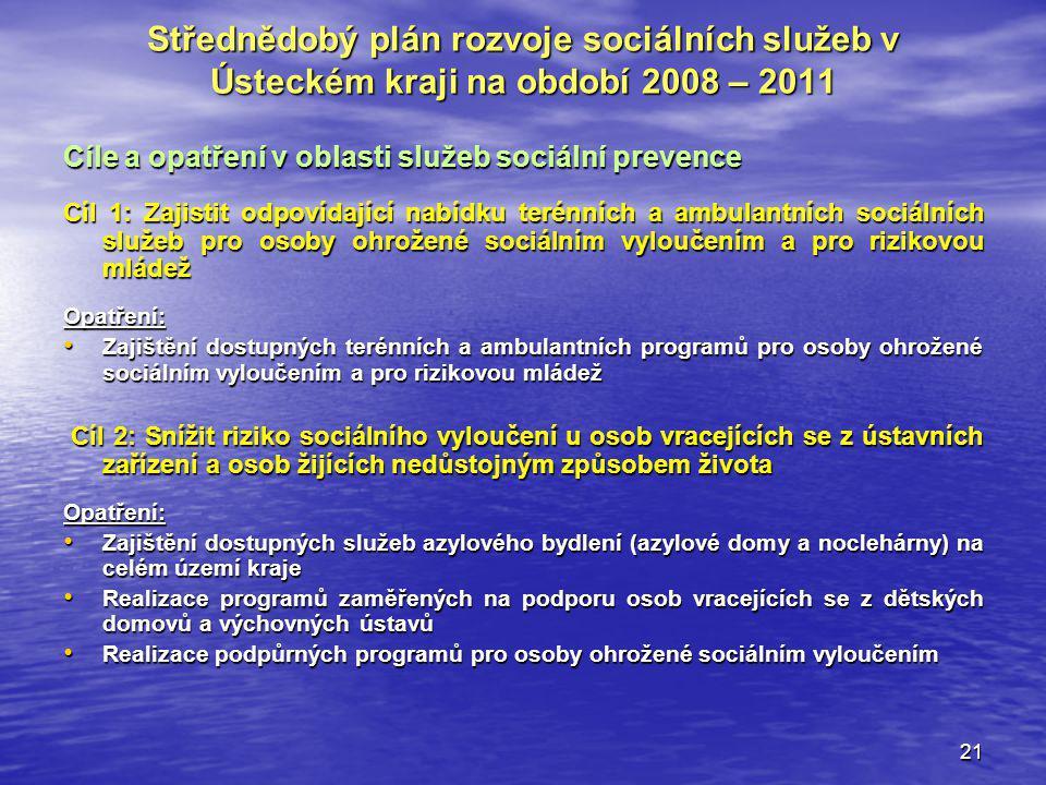 Střednědobý plán rozvoje sociálních služeb v Ústeckém kraji na období 2008 – 2011